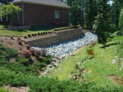 After Picture: retaining wall with landscaping