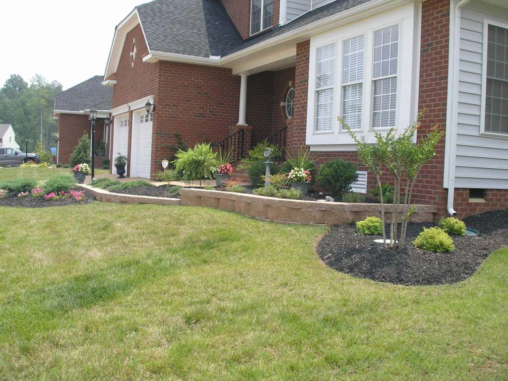 Residential retaining wall pictures for Elegant landscaping