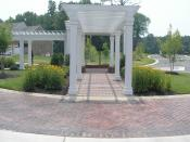 Gazebo with paver stone