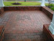 Paver stones in gazebo