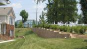 Diamond Pro beveled buff retaining wall